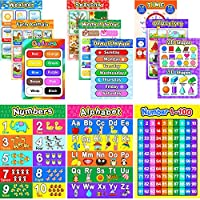Educational Preschool Poster for Toddlers and Kids with 80 Glue Point Dot, Great for Nursery Homeschool Kindergarten Classroom - Teach Numbers Alphabet Colors Days and More, 16 x 11 Inch ...