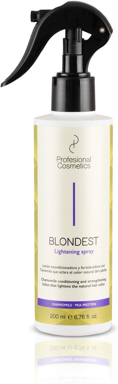 Profesional Cosmetics Blondest Lightening Spray. Acondicionador aclarante de pelo - 200 ml.