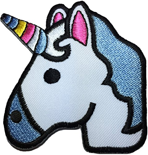 Papapatch Cute Unicorn Head Horse Cartoon DIY Sewing on Iron on Embroidered Applique Patch - Embroidered Applique Iron Horse