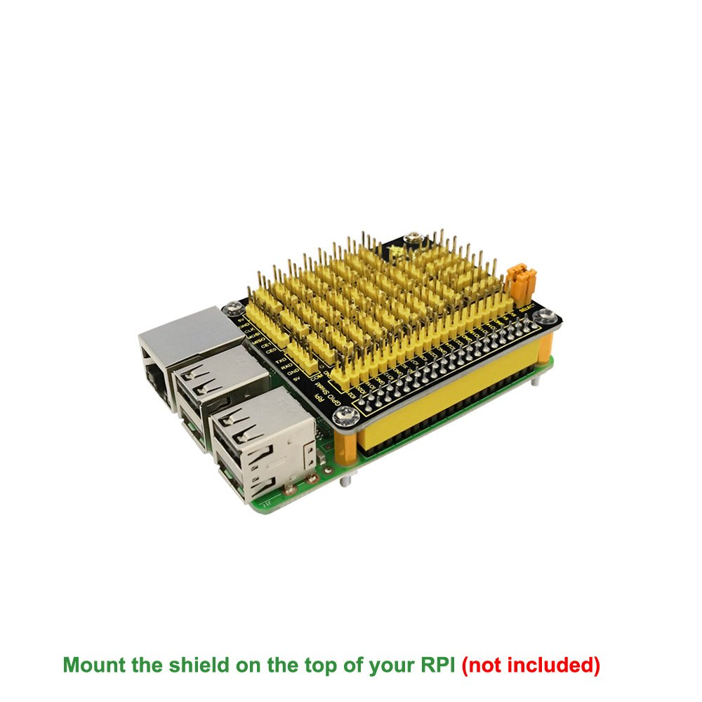 Keyestudio Gpio Pcf8591 Ad Da Functions Shield Expansion Wiringpi Board For Raspberry Pi 3 B 2 Model Computers Accessories