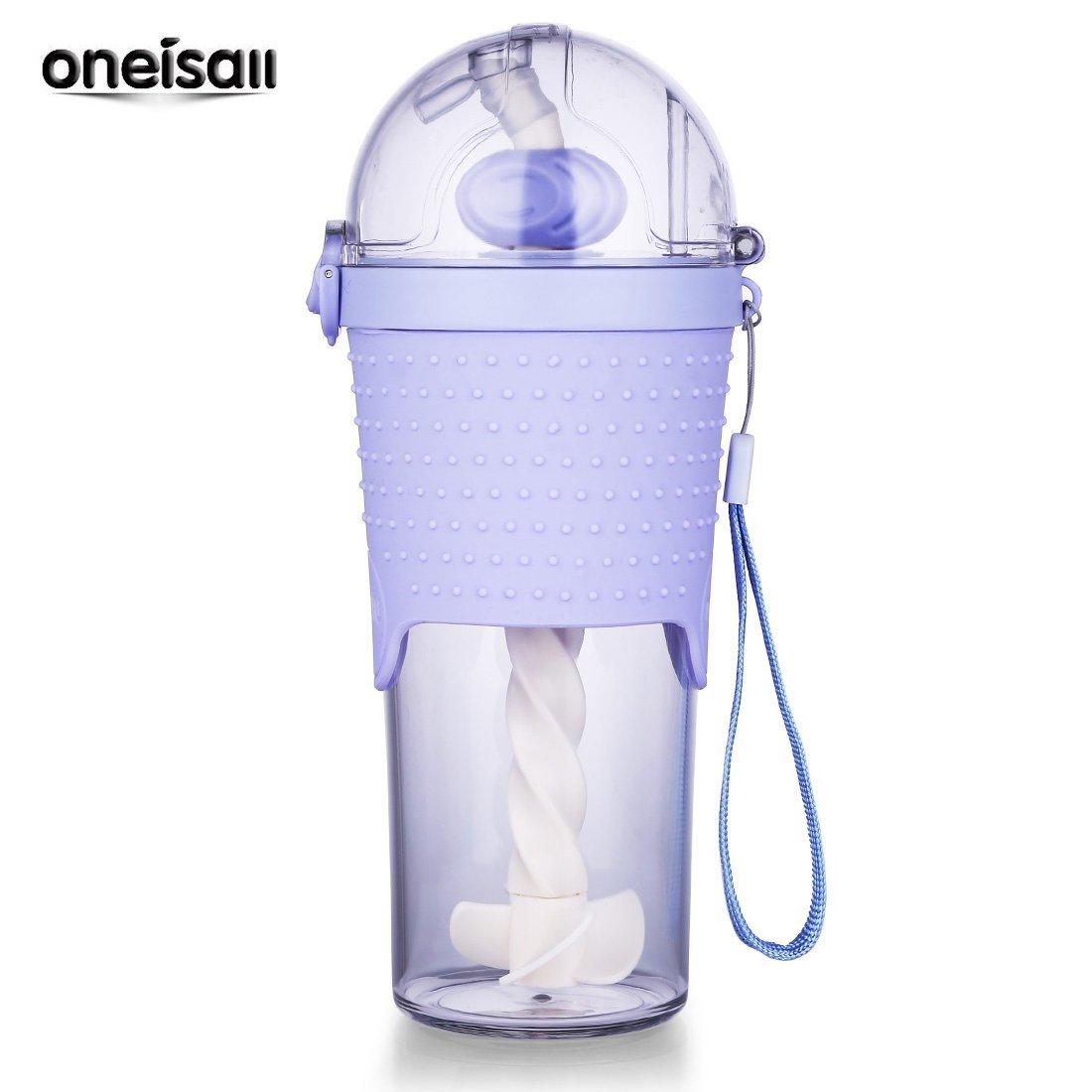 ONEISALL ストローマグボトル水筒マグ パープル