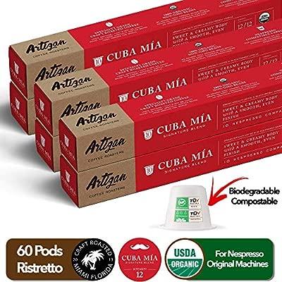 Organic Authentic Cuban Espresso Cafecito - Nespresso Compatible - 100% USDA Certified Organic Coffee - Cuba Mia Signature Blend - High Intensity ...