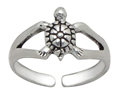 AG2AU 925 Sterling Silver Toe Ring - Turtle UPe5E