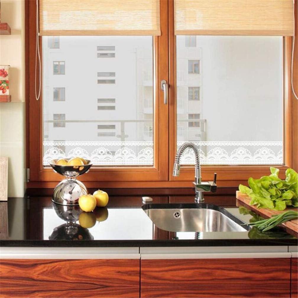 Pour vitrine porte carrelage et miroir One Size blanc salle de bain Bordure murale transparente en dentelle blanche