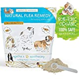 Dog Flea Treatment Collar - Agatha's Apothecary Natural Flea Remedy - Non-Toxic Organic Flea & Tick Prevention and Treatment for Dogs - 100% Safe For Pets And People - 175 Scoops