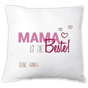 Kissen Mama Ist Die Beste Personalisiert Zierkissen Dekokissen Geschenkidee Muttertagsgeschenk Geschenk Zum Muttertag Geburtstag