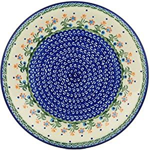Polmedia Polish Pottery 10-inch Stoneware Plate H0603H Hand Painted from Cer-Maz in Boleslawiec Poland. Shape S075E(104) Pattern P4854A(D19)