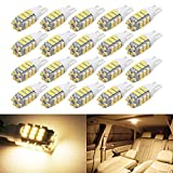 Boodled 20Pcs RV Trailer T10 921 194 1206 Chips 42-SMD 12V Car Backup