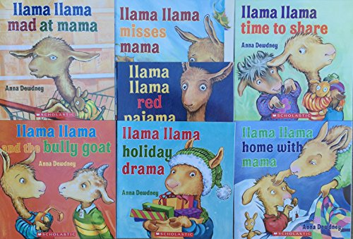 Llama Llama COMPLETE 7 Book Set Pack Collection: Llama Llama and the Bully Goat, Holiday Drama, Red Pajama, Time to Share, Home with Mama, Mad at Mama, Misses Mama