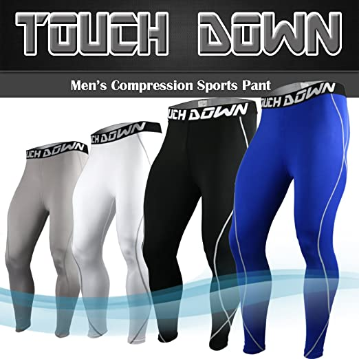 Touch Down Skin Tights Compression Pants Base Layer Running Leggings