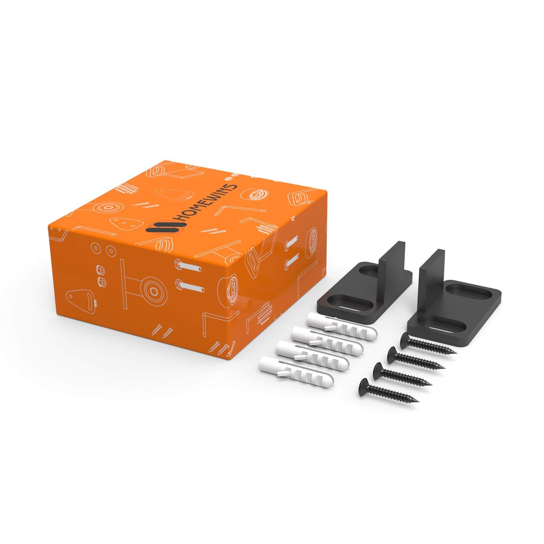 Schiebetür Bodenführung HOMEWINS Verstellbare Boden Rollenführung mit Schrauben Schiebetürbeschlag Hardware Scheunentor Zubehör - Perfekt Geeignet für alle Schiebetür (Stil 4)