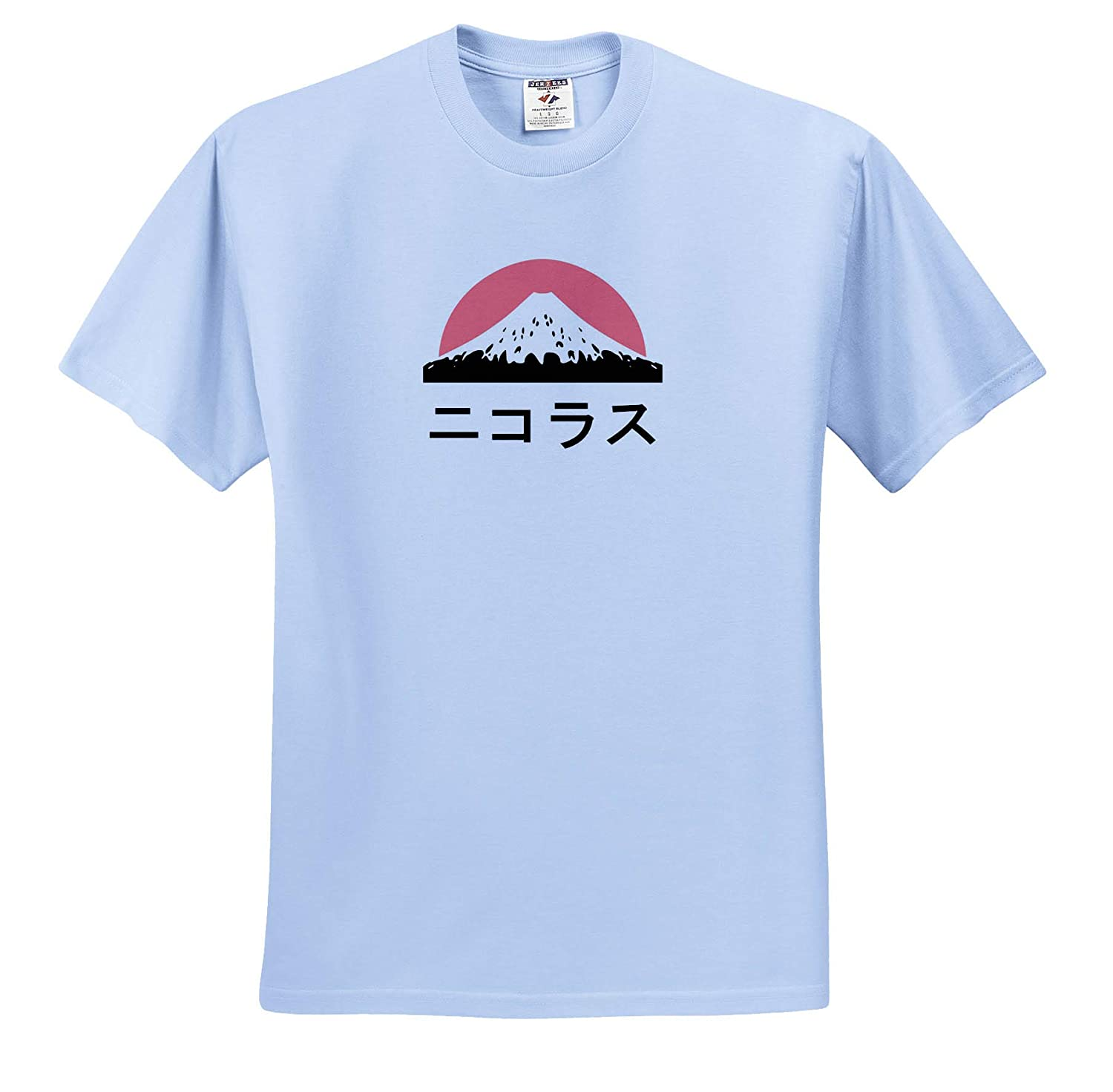 ts/_320593 Name in Japanese Nicholas in Japanese Letters Adult T-Shirt XL 3dRose InspirationzStore