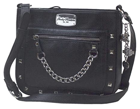6d890e6359f6 Image Unavailable. Image not available for. Color  Harley-Davidson Women s  Chain Gang Leather Crossbody Purse ...