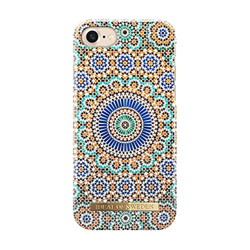 iDeal of Sweden Magnetically Compatible Fashion Cellphone Case for iPhone 7 in Beautiful Bohemian Geometric Design (Moroccan Zellige)