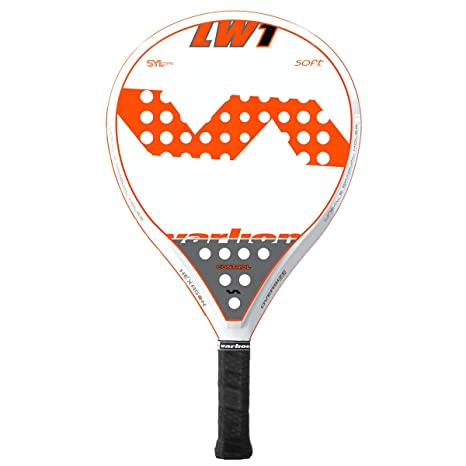 VARLION LW One Soft Pala de pádel, Adultos Unisex, Blanco/Naranja ...