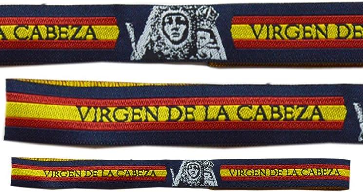 Pulsera Tela Virgen de la Cabeza ESPAÑA - 3 Unidades - 30 X 1,50 cm: Amazon.es: Zapatos y complementos