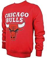Mitchell & Ness Team Logo Chicago Bulls Crewneck Red Sweater Pullover Herren Men