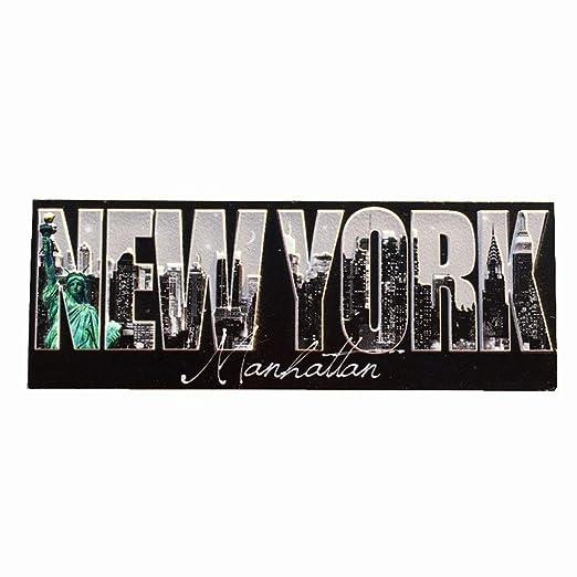 MUYU Magnet Manhattan New York USA Imán para Nevera de Viaje ...