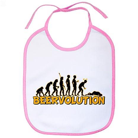 Babero Beervolution evolución humana con la cerveza humor ...