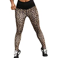 Nevera Yoga Pants Leopard Capris Printed Workout Leggings for Fitness Riding Running for Women Black