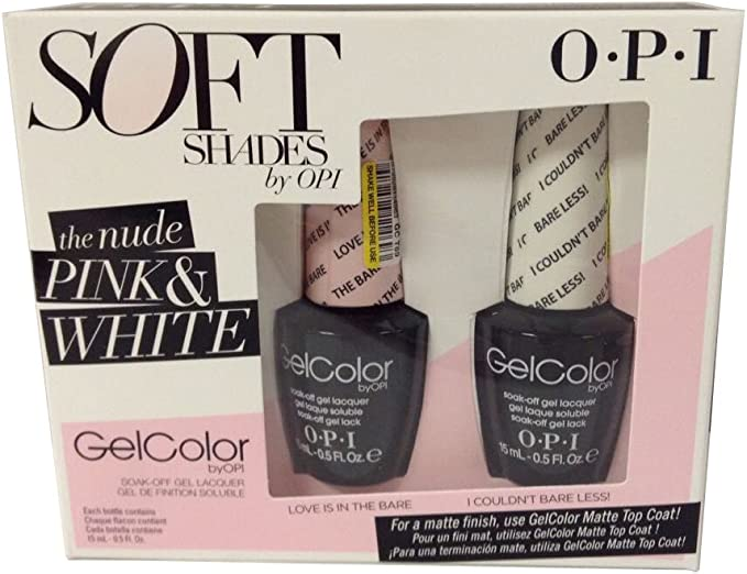 OPI Gel color Soak-off Gel Soft Shades Duo Pack Love Is In The Bare&I Couldnt Bare Less! by OPI: Amazon.es: Salud y cuidado personal
