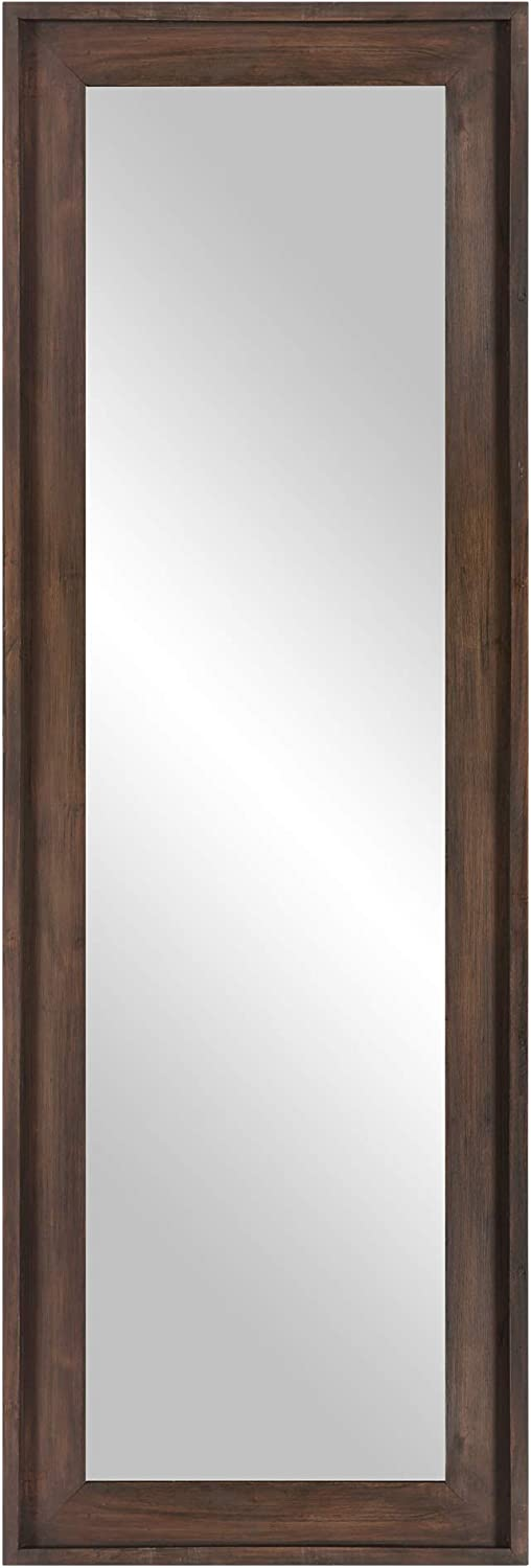 "Patton Wall Décor Classic Wood Framed Wall or Leaner Full Length Mirror, 19"" x 57"", Burnt Tobacco"