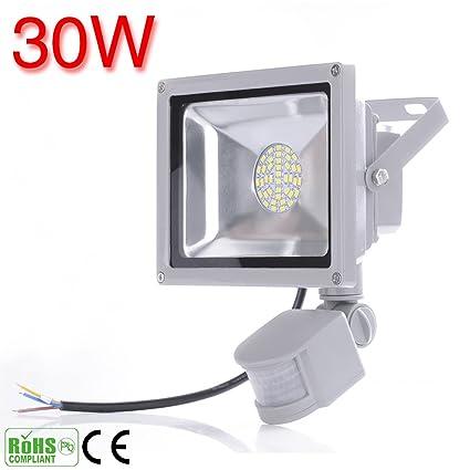 20W 30W 50W 80W LED de inducción PIR sensor de movimiento infrarrojo del cuerpo Flood luces