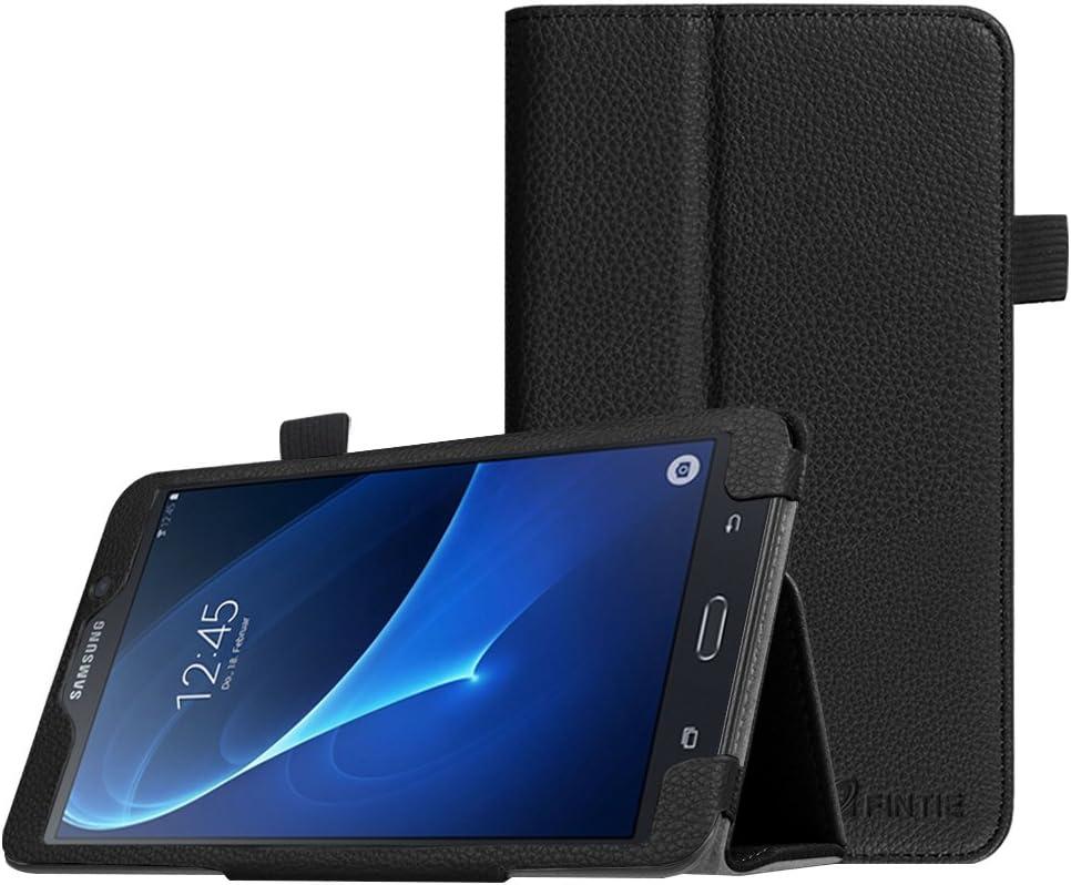 Fintie Folio Case for Samsung Galaxy Tab A 7.0 - Premium Vegan Leather Slim Fit Folio Stand Cover for Samsung Galaxy Tab A 7.0 Tablet 2016 Release (SM-T280/SM-T285), Black
