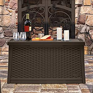 Suncast ELEMENTS® Coffee Table with Storage by Suncast