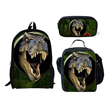 Mochila Para Niños Dinosaurio Estampado En 3D Mochila + Bolsa De Almuerzo + Estuche Para Lápices: Amazon.es: Bricolaje y herramientas