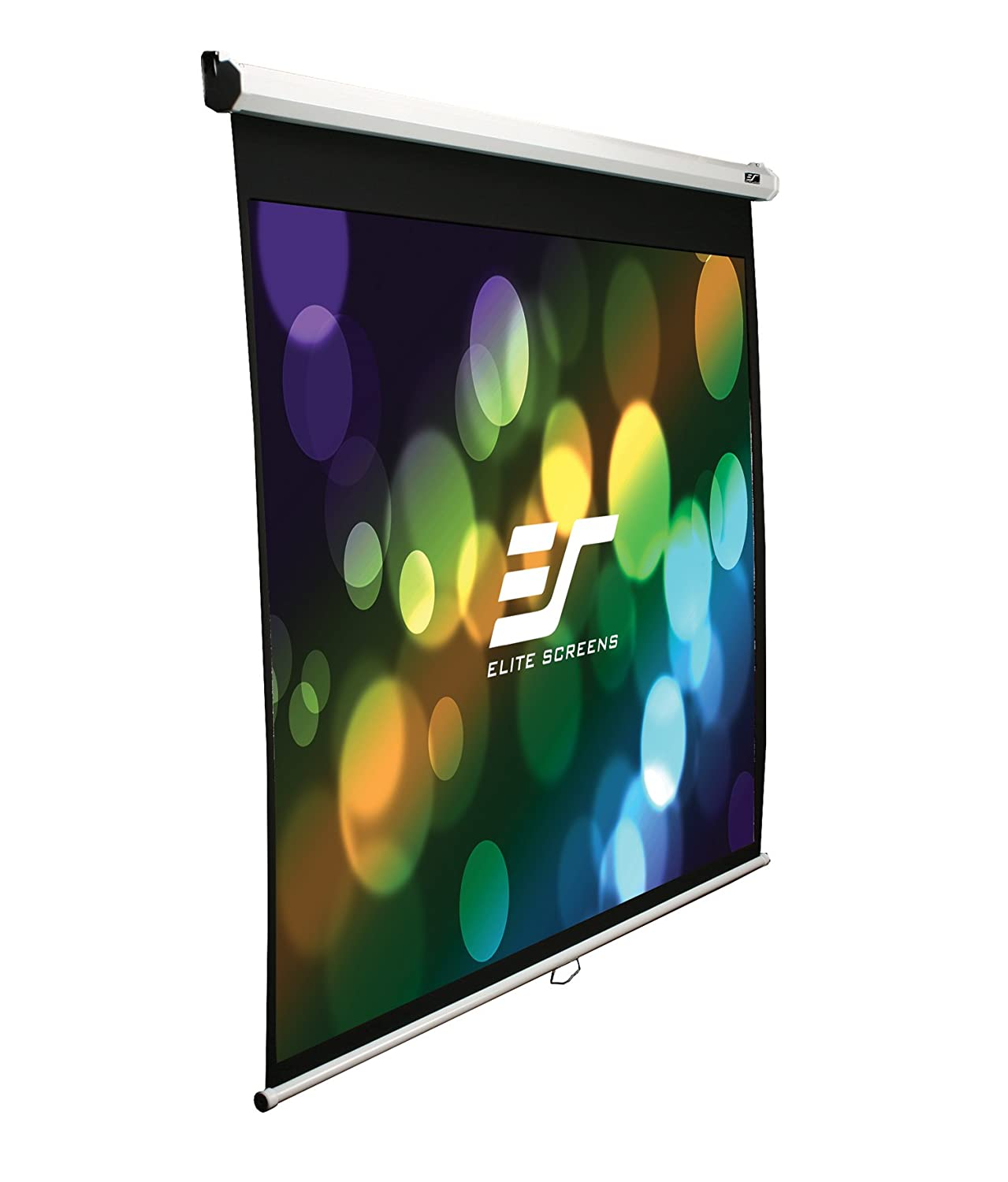 Elite Screens Manual, 106-inch 16:9, Pull Down Projection Manual Projector Screen with 24-inch Drop, M106UWH-E24 Elitescreens