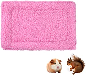 Rat Hamster House Bed Warm Guinea-Pigs Bed Mat Pad Cozy Bed Blanket Habitat Decor for Squirrel Hedgehog Bunny Chinchilla and Other Small Animals