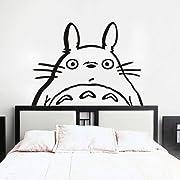 Totoro Inspired Totoro Head Vinyl Wall Decal Totoro Wall Sticker Wall Mural Nursery Room Art Decor Black