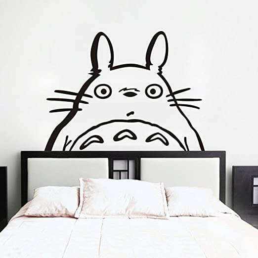 Amazon.com: Totoro Inspired Totoro Head Vinyl Wall Decal Totoro Wall  Sticker Wall Mural Nursery Room Art Decor Black: Home U0026 Kitchen