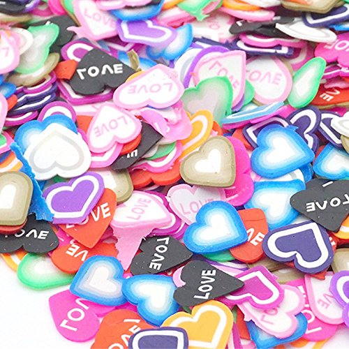 50PCS Colorful DIY 3D FIMO Slice Face Decoration for Homemade Slime Making -