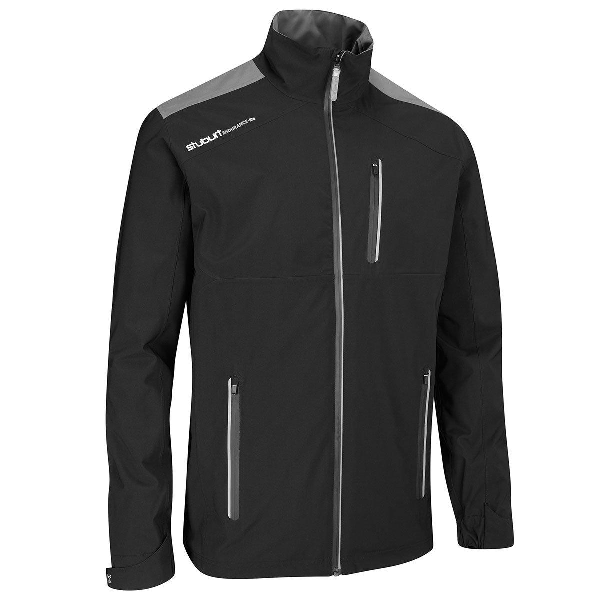 Stuburtゴルフ2017メンズEndurance Lite防水フルZip防風ジャケット B0759WP769 Medium|ブラック ブラック Medium