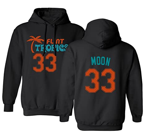 bc1c5cffed8 Flint Tropics Jackie Moon 33 Semi Pro Basketball Men s Hoodie Sweatshirt  (Black ...