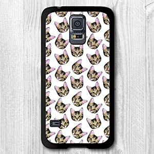 Lovely Many Cat Dots Pattern Stylish Protective Phone Case For Samsung Galaxy S5 i9600 Hard Case + Screen Protector + Earphone Anti Dust Plug Cap + Retail Package