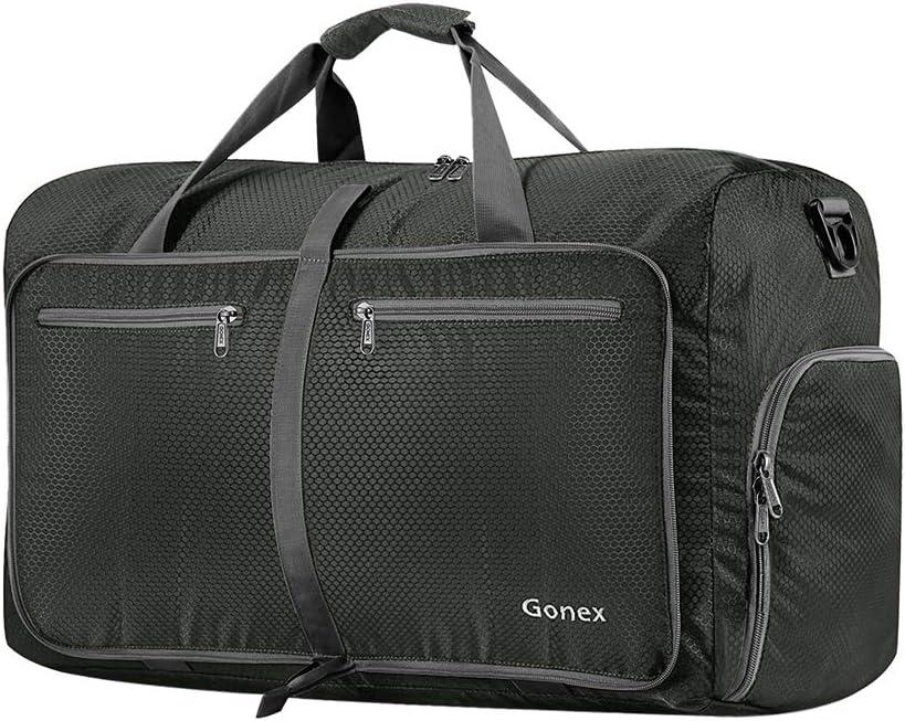 Gonex Bolsa de Viaje 40L, Plegable Ligero Bolso Equipaje Maleta Grande Bolsas Deportes Gimnasio Maletas de Mano Impermeable Duffel Travel Bag para Hombres y Mujeres Fin de Semana (Gris)