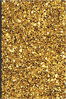 Book Journal Daily: golden flakes chip design, Lined Blank Journal Book, 6 x 9, 200 Pages