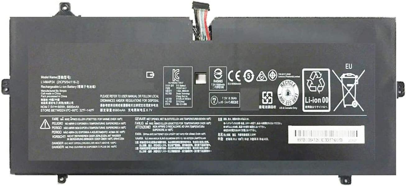 BOWEIRUI L14M4P24 (7.5V 66Wh 8560mAh) Laptop Battery Replacement for Lenovo Yoga 4 Pro Yoga 900 900-13ISK 900-ISE 900-IFI Series Notebook 5B10H43261 L14L4P24