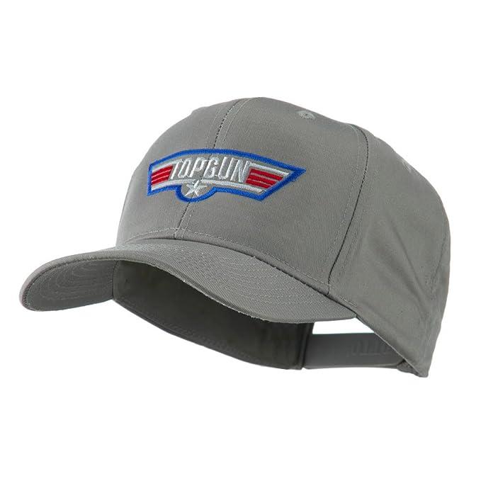 0560877c3ea US Navy Top Gun Embroidered Cap - Grey OSFM at Amazon Men s Clothing ...