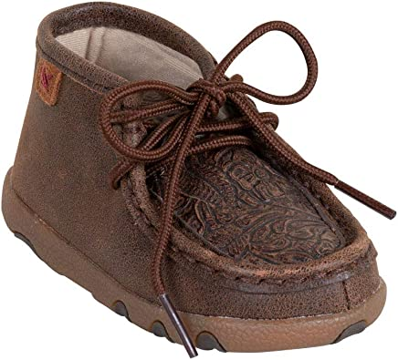 Twisted X Infant Nude Tooled Moccasins