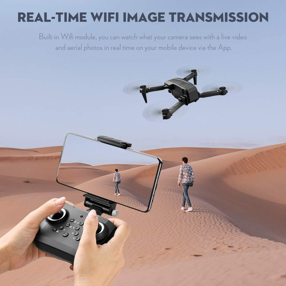 GoolRC Drone RC LS-XT6 avec cam/éra 4K Piste de cam/éra capteur de gravit/é de vol Geste Photo vid/éo Maintien daltitude Mode sans t/ête quadrirotor RC pour Adultes Enfant