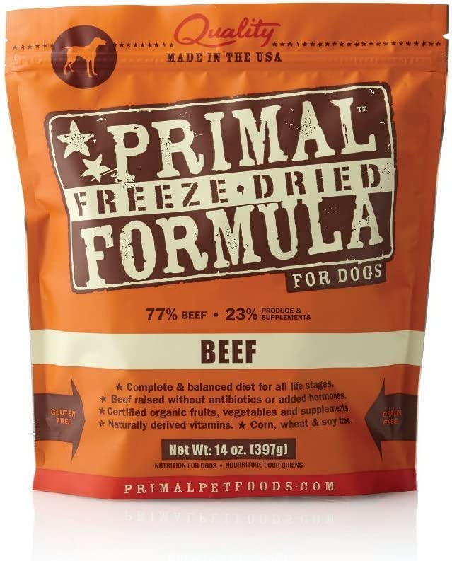 Primal Pet Foods Freeze-Dried Canine Beef Formula, 14 oz (Pack of 2)