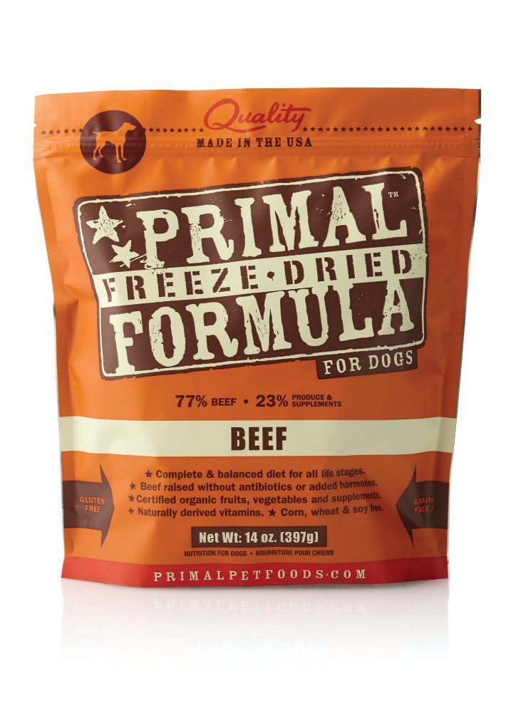 Primal Pet Foods Freeze-Dried Canine Beef Formula, 14 oz (Pack of 2) by Primal Pet Foods