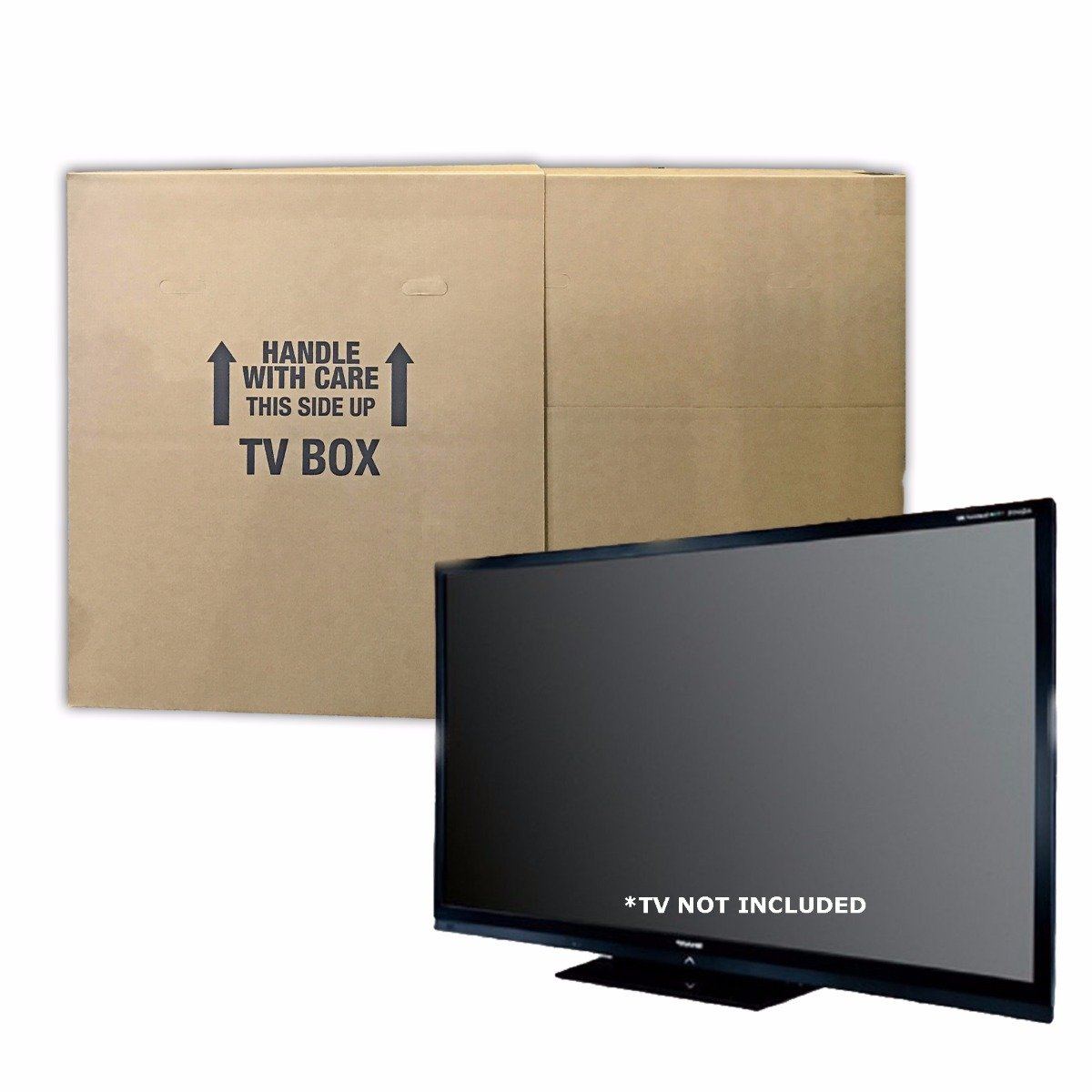 UBOXES TV Moving Box Fits up to 70'' plasma, LCD, or LED, 72x6x42 (2 Pack)