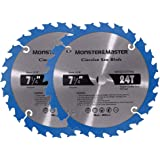 Monster&Master Metal Cutting Circular Saw Blade for Wood and Plastic, 7-1/4-inch x24T x 5/8-inch, MM-LW-001x2