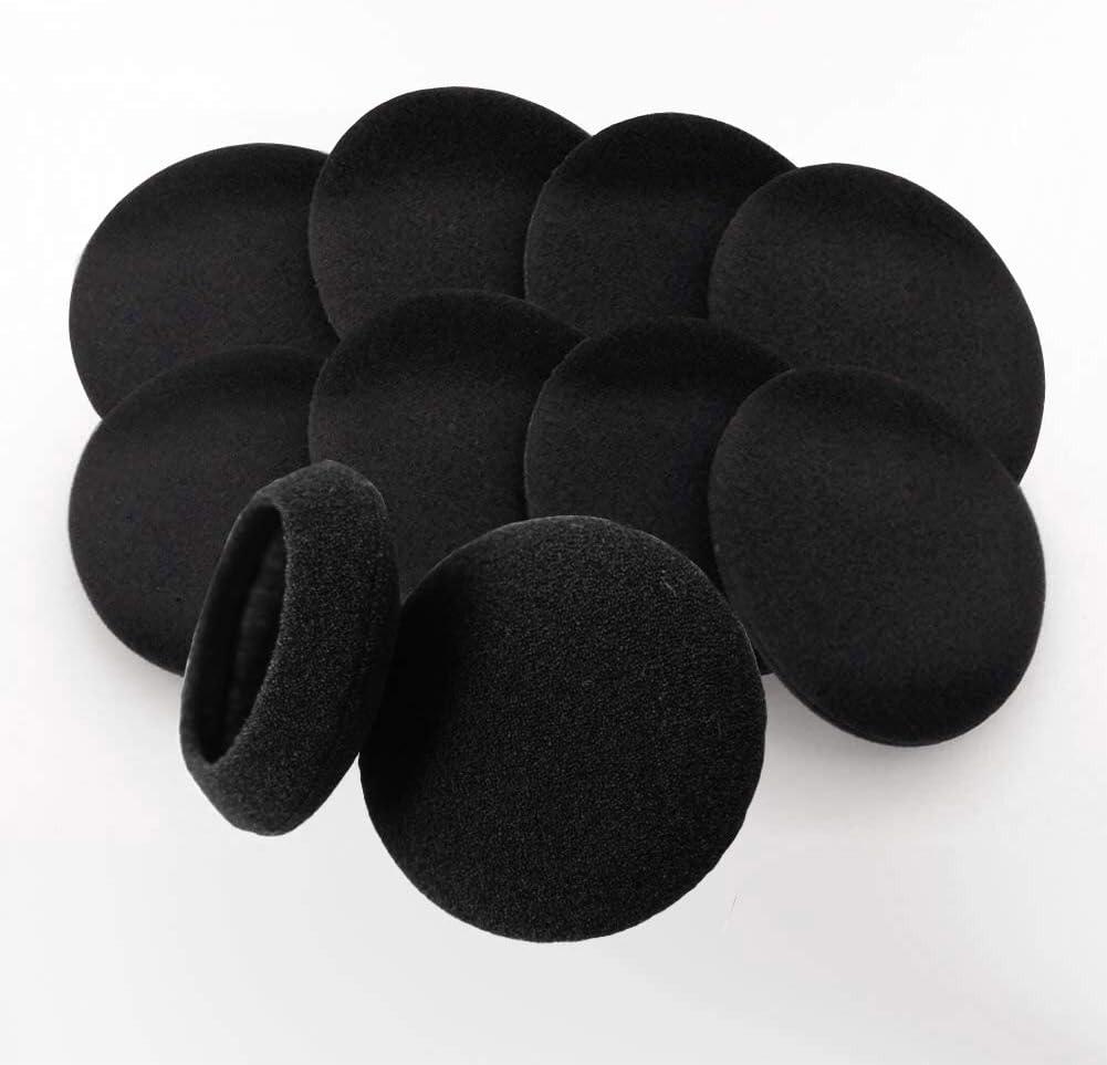 "10 Pairs 60mm/2.4"" Replacement Foam Ear Pud Earpads Sponge Cushion Covers for Logitech H600, H330, H340 / Sony MDR-G45LP,MDR-G55LP ,MDR-G410LP, MDR-G101LP, MDR-G42LP, DR-220DPV, MDR-G45 ,IF240R,SRF-HM33, MDR-027 ,MDR-222 ,SRF-H4,MDR-NC5 ,MDR-NC6s,MDR-023 / Rapoo H1030 /Koss CS100 / Jensen JHH110 /FreeTalk 5091 / Aiwa HP-CN5 /Labtec Axis 502 headset"