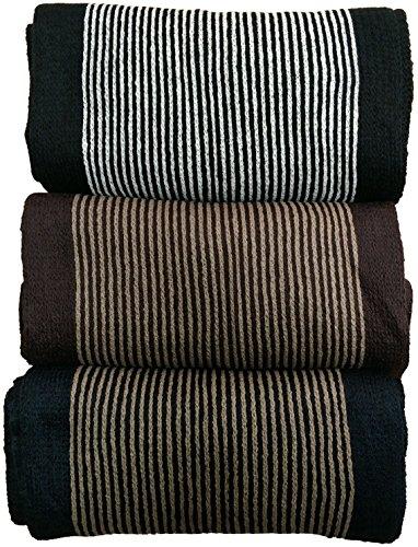 Yacht&Smith 3 Pack Designer Winter Scarves, Stripe Patterned Neck Scarf, Unisex (Option A) One - Scarf Stripe Holiday